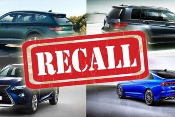 Vì sao ô tô Hyundai, Kia, Mercedes-Benz và Toyota bị triệu hồi hàng loạt