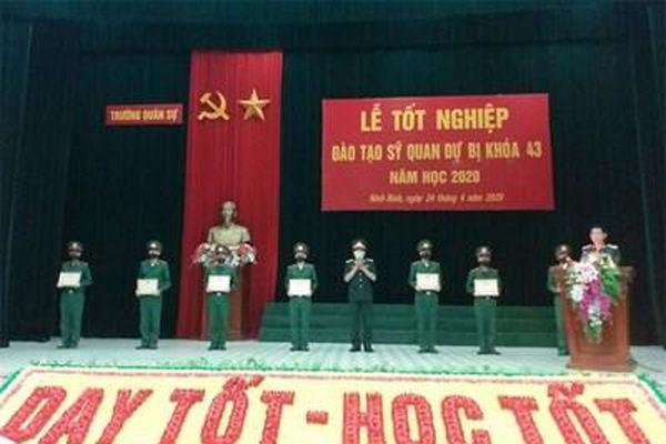 Trường quân sự Quân đoàn 1 tổ chức Lễ tốt nghiệp học viên đào tạo sĩ quan dự bị khóa 43