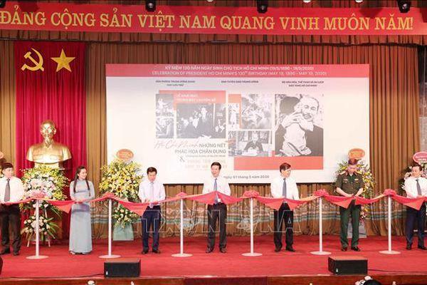 Khai mạc trưng bày chuyên đề 'Hồ Chí Minh - Những nét phác họa chân dung'
