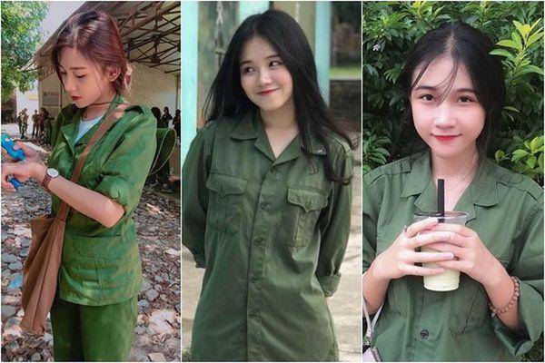 Dàn hot girl khoe ảnh đi quân sự, toàn gái xinh trong màu áo bay