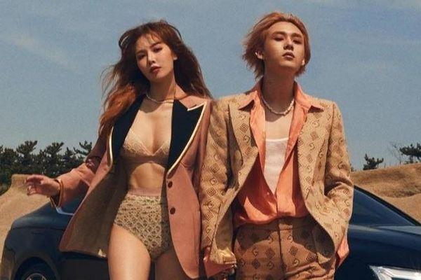 HyunA mặc nội y tình tứ bên bạn trai kém tuổi trên tạp chí