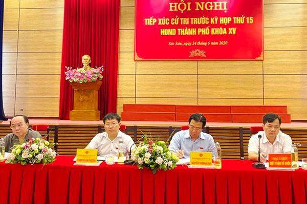 Cử tri huyện Sóc Sơn kiến nghị đẩy nhanh dự án di dân vùng bãi rác