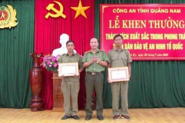Khen thưởng 3 công dân có thành tích bắt giữ Triệu Quân Sự