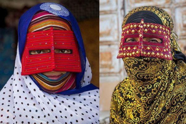 Biết gì về những chiếc mặt nạ đầy màu sắc của phụ nữ Iran?