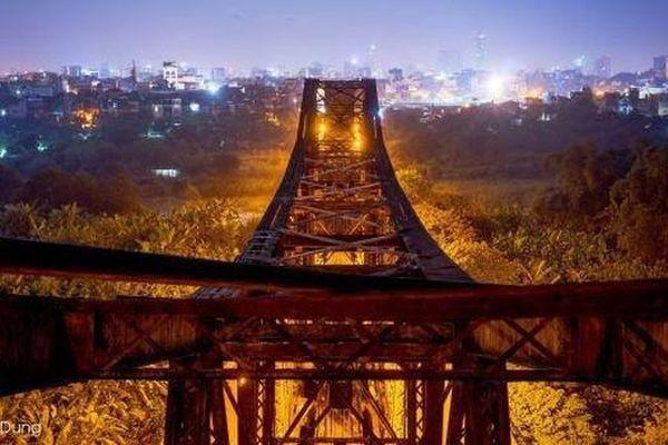 Các bức ảnh độc đáo về cây cầu Long Biên huyền thoại
