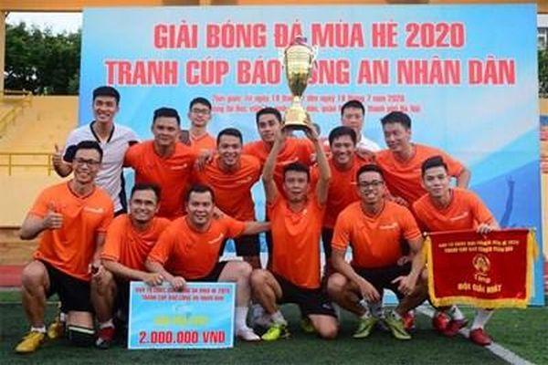 Giải bóng đá mùa hè 2020 tranh Cúp Báo Công an nhân dân: Đội bóng VietinBank vô địch