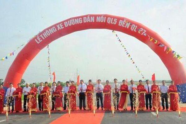 Hải Dương: Thông xe đường 230 tỷ đồng nối Quốc lộ 5 với Quốc lộ 37