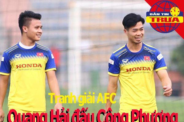 Công Phượng đấu Quang Hải ở giải AFC; kỷ lục Guinness bị phá