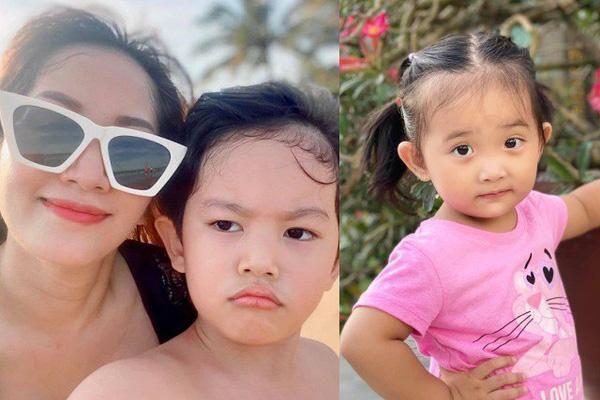 Biểu cảm hay ho, trái ngược của 2 con Khánh Thi - Phan Hiển khi chụp ảnh cùng mẹ