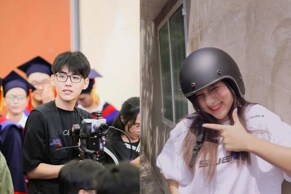 Cameraman sinh năm 2001 quá đẹp trai; nữ sinh có nụ cười tươi rói