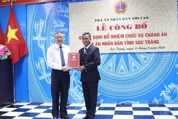 Trao quyết định bổ nhiệm Chánh án TAND tỉnh Sóc Trăng