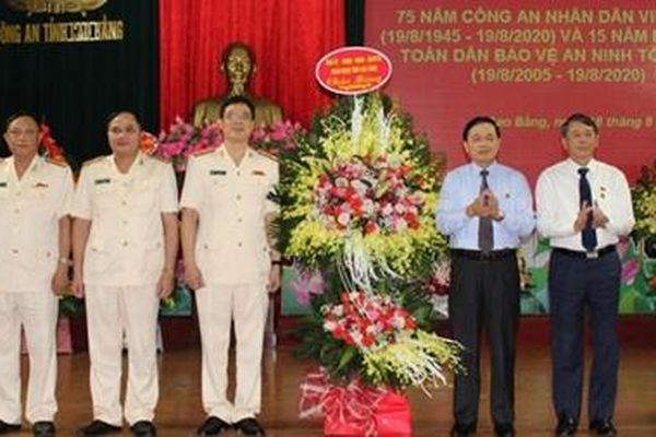 Công an Cao Bằng gặp mặt kỷ niệm 75 năm Ngày truyền thống CAND