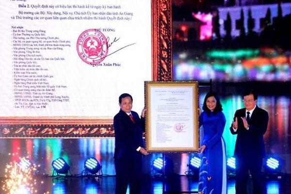 TP Long Xuyên chính thức trở thành đô thị loại 1