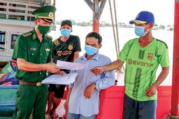 Bộ đội Biên phòng Cà Mau tăng cường phòng chống dịch COVID-19