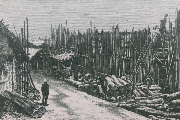 Phố Hàng Bè xưa chuyên bán gỗ