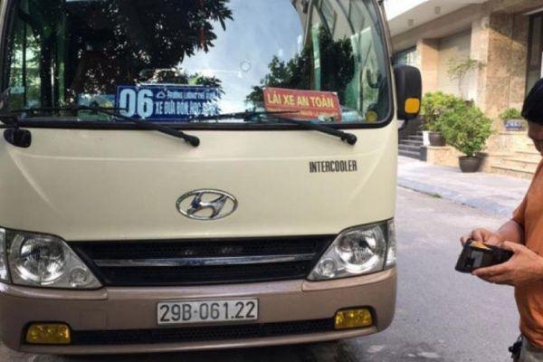 Hà Nội phát hiện 3 xe đưa đón học sinh không có hợp đồng vận chuyển
