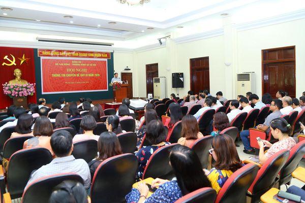 Đảng ủy Bộ LĐ-TB&XH tổ chức Hội nghị Thông tin chuyên đề