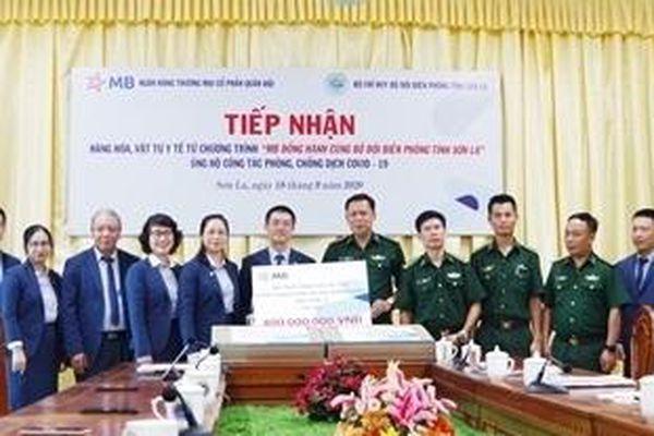 BĐBP Sơn La tiếp nhận hàng hóa, vật tư y tế phòng, chống dịch Covid-19