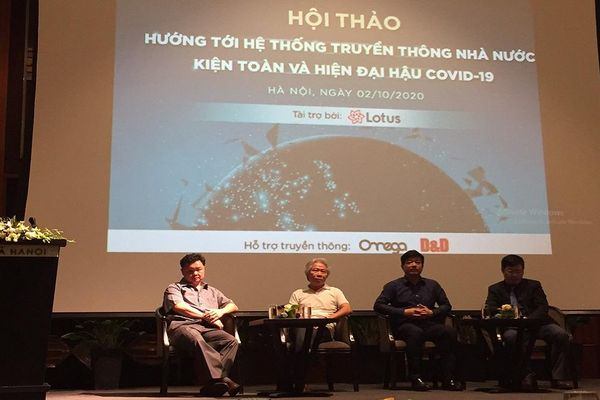 Hội thảo 'Hướng tới hệ thống truyền thông nhà nước kiện toàn và hiện đại hậu Covid-19'