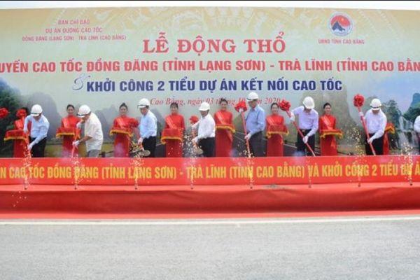 Động thổ tuyến cao tốc hơn 20 nghìn tỷ đồng nối Đồng Đăng- Trà Lĩnh
