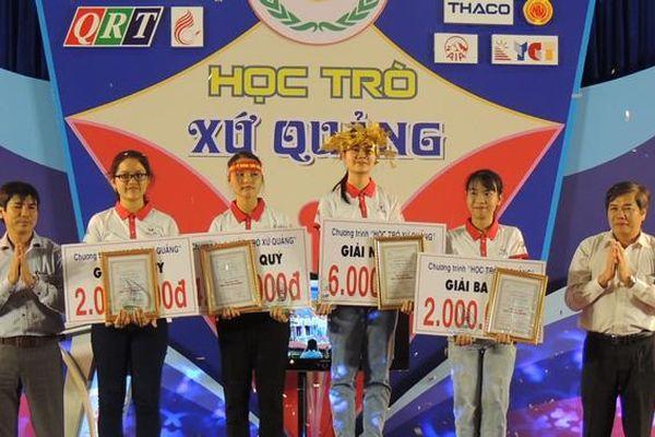 Thí sinh Trường THPT Trần Quý Cáp quán quân 'Học trò xứ Quảng'