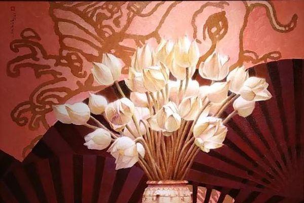 Quốc hoa các nước ASEAN rực rỡ trong triển lãm tranh tại Hà Nội