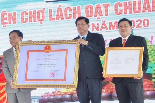 Huyện Chợ Lách đạt chuẩn nông thôn mới năm 2020