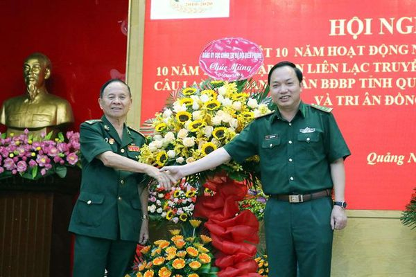 Ban Liên lạc truyền thống BĐBP Quảng Ninh tổng kết 10 năm hoạt động nghĩa tình đồng đội