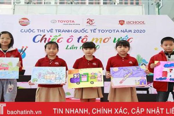 Gần 100 học sinh iSchool Hà Tĩnh tham gia cuộc thi vẽ tranh 'Chiếc ô tô mơ ước'