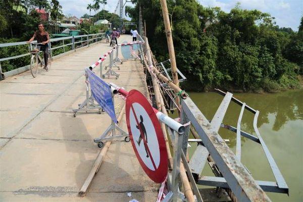 Nguy cơ mất an toàn từ những cây cầu 'già' ở Nghệ An