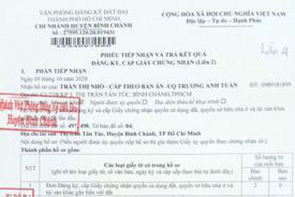 TP. Hồ Chí Minh: Chi nhánh Văn phòng Đăng ký đất đai huyện Bình Chánh 'hành' dân