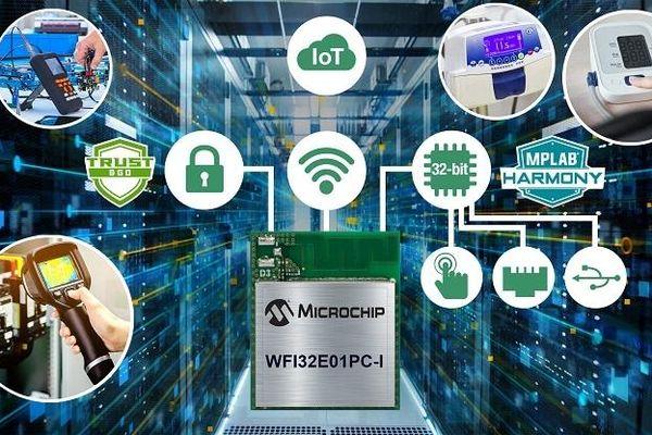 Microchip giới thiệu mô-đun vi điều khiển Wi-Fi đầu tiên
