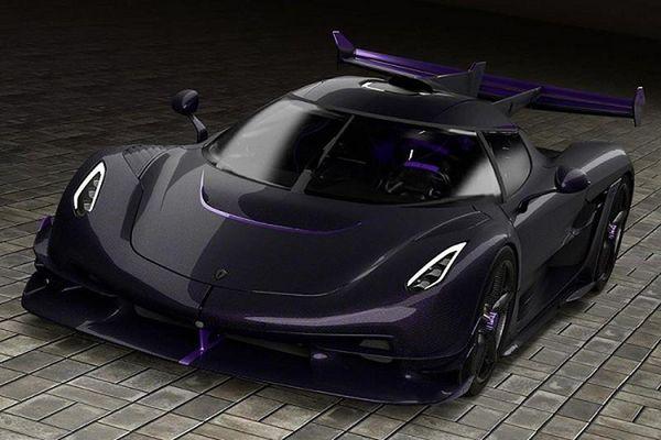 Siêu xe Koenigsegg Jesko Hydra tím mộng mơ cho doanh nhân trẻ