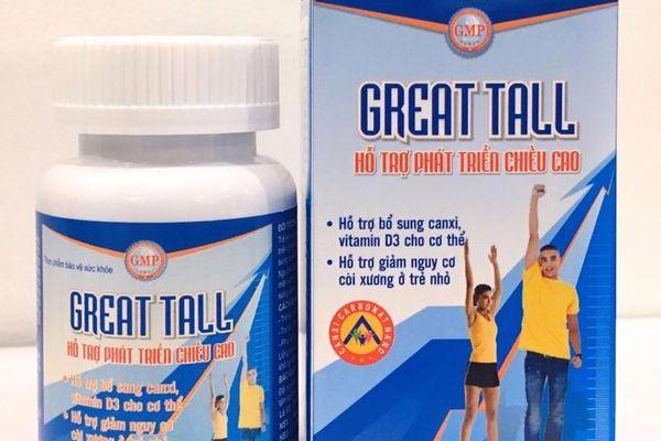 Thực phẩm bảo vệ sức khỏe Great Tall quảng cáo lừa dối người tiêu dùng