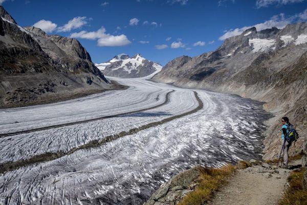 Lượng băng tích tụ trên sông băng lớn nhất thuộc dãy Alps xuống mức thấp kỷ lục