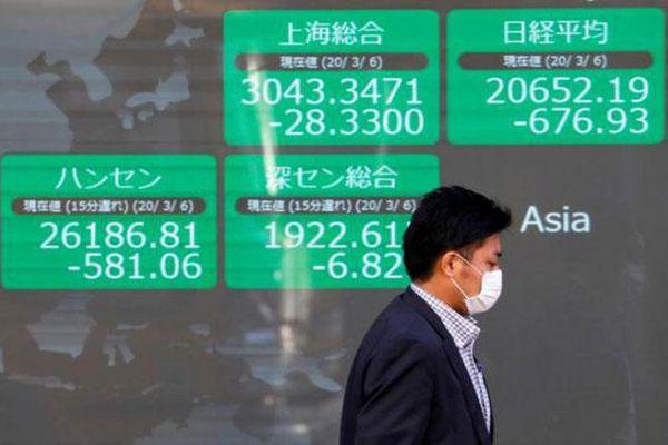 Giới đầu tư hào hứng với tài sản rủi ro, chứng khoán châu Á tiến sát mức cao nhất hơn 2 năm