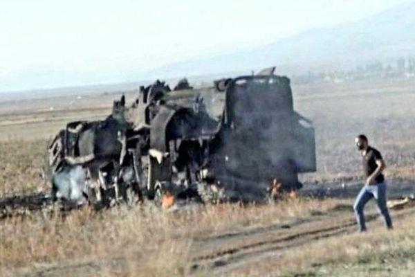 Tên lửa đạn đạo cực mạnh của Armenia bị UAV cảm tử Azerbaijan thiêu rụi