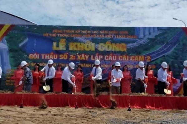 Vĩnh Long: Khởi công xây dựng cầu Cái Cam 2 tổng mức đầu tư 664 tỷ đồng