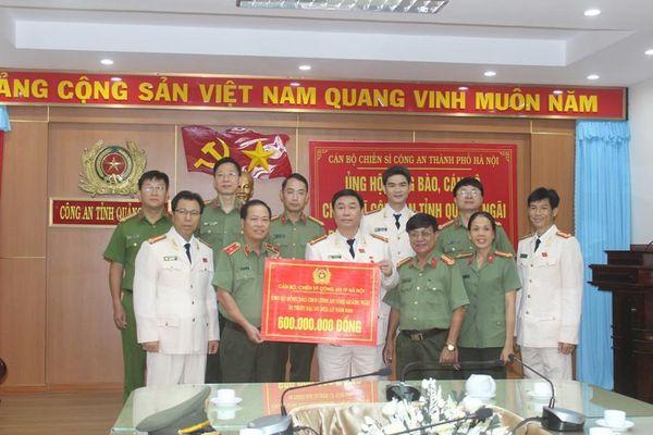 Tiếp thêm sức mạnh cho nhân dân và Công an tỉnh Quảng Ngãi đối phó với bão lũ