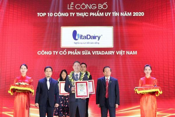 VitaDairy được vinh danh là công ty uy tín ngành sữa