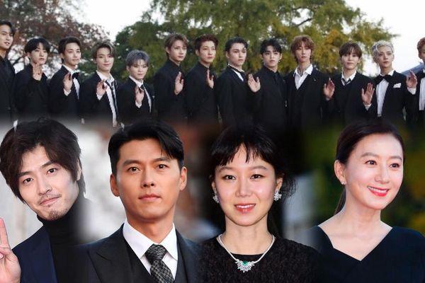 Thảm đỏ hot nhất Hàn Quốc: SEVENTEEN tỏa sáng cùng Hyun Bin, Gong Hyo Jin, Kim Hee Ae và Kang Ha Neul