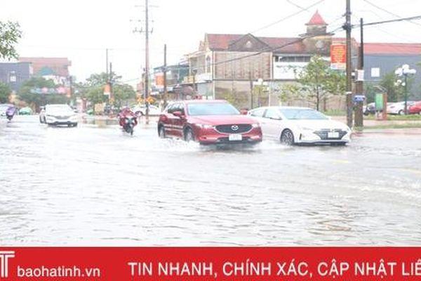 Thành phố Hà Tĩnh vận hành hệ thống tiêu thoát, chống úng cho khu vực nội thành