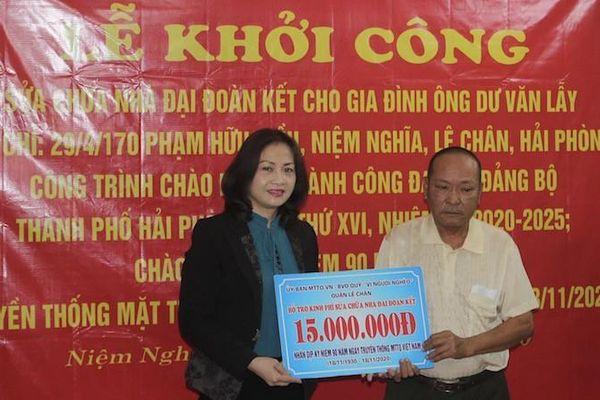 Quận Lê Chân (Hải Phòng) sửa nhà 'Đại đoàn kết' cho gia đình hộ cận nghèo