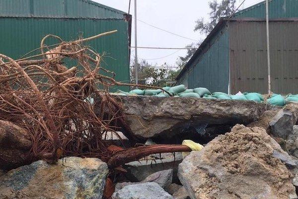 Xót xa kè bãi biển Cửa Lò bị sóng đánh tan hoang