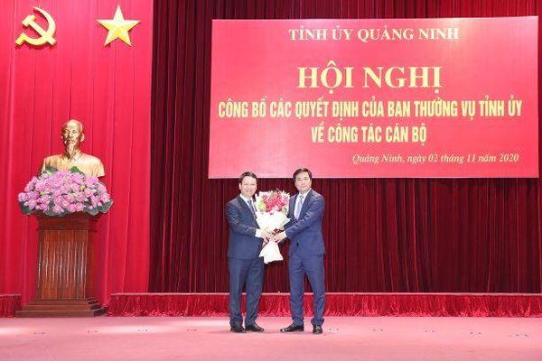 Quảng Ninh công bố các quyết định về công tác cán bộ