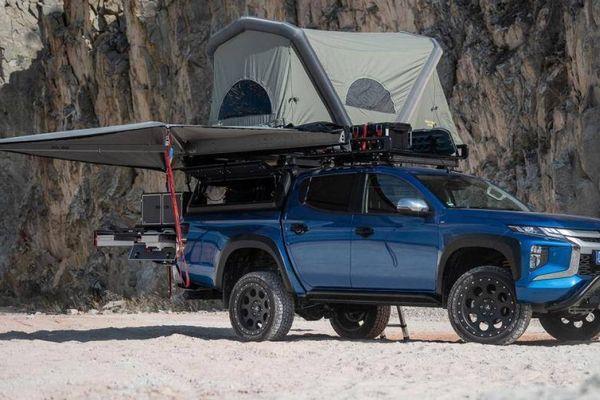 Mitsubishi cung cấp phụ kiện cắm trại cho xe bán tải Triton