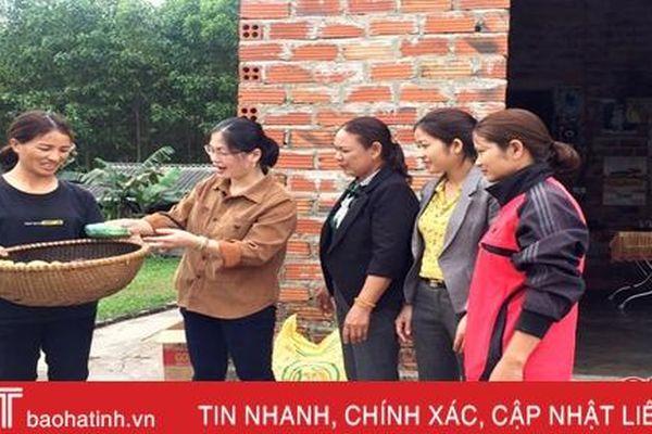 Hỗ trợ hội viên phụ nữ vùng lũ Hà Tĩnh tái thiết cuộc sống