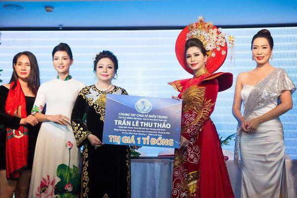 Hoa hậu Vũ Thanh Thảo chung tay chia sẻ cùng miền Trung thân yêu