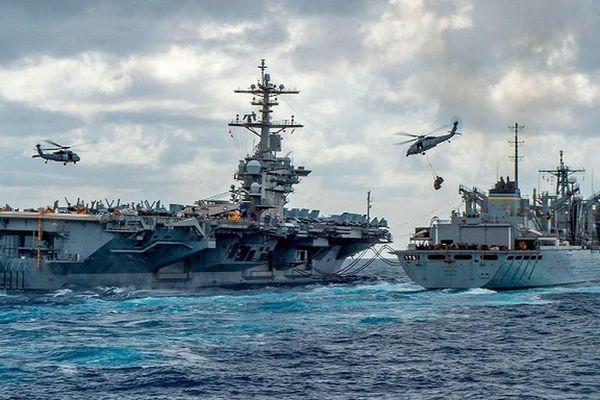 Tàu sân bay Mỹ - Ấn sẵn sàng đáp trả thách thức từ Trung Quốc
