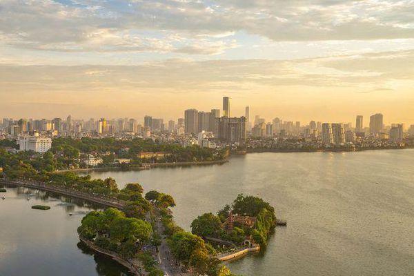 Vẻ đẹp của một Hà Nội hiện đại, sôi động nhìn từ 'trong mây'